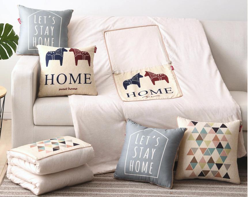 新品:北欧风数码彩印抱枕被,给您自然恬静的生活