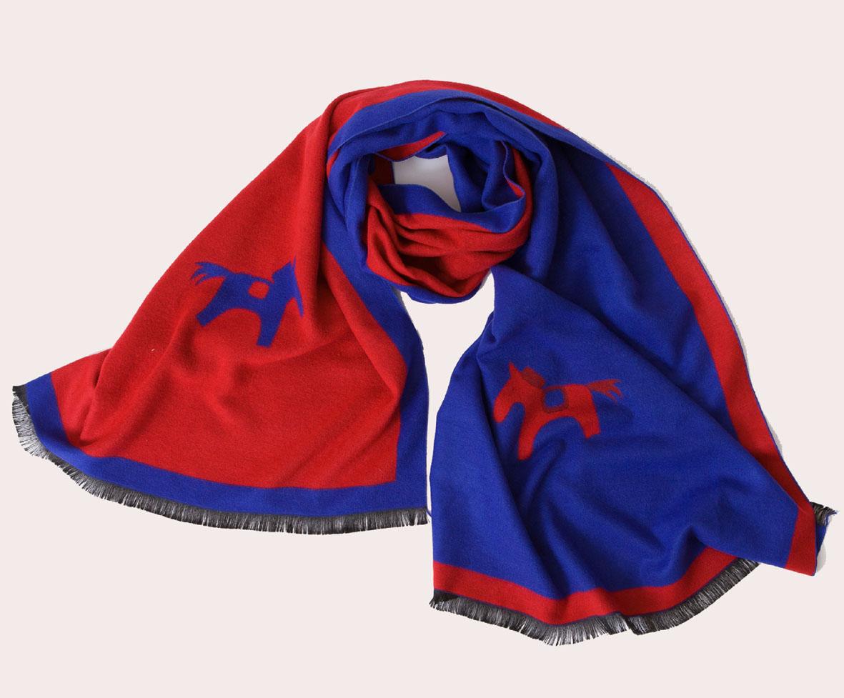 A-D305 欢乐时光蚕丝绒围巾披肩