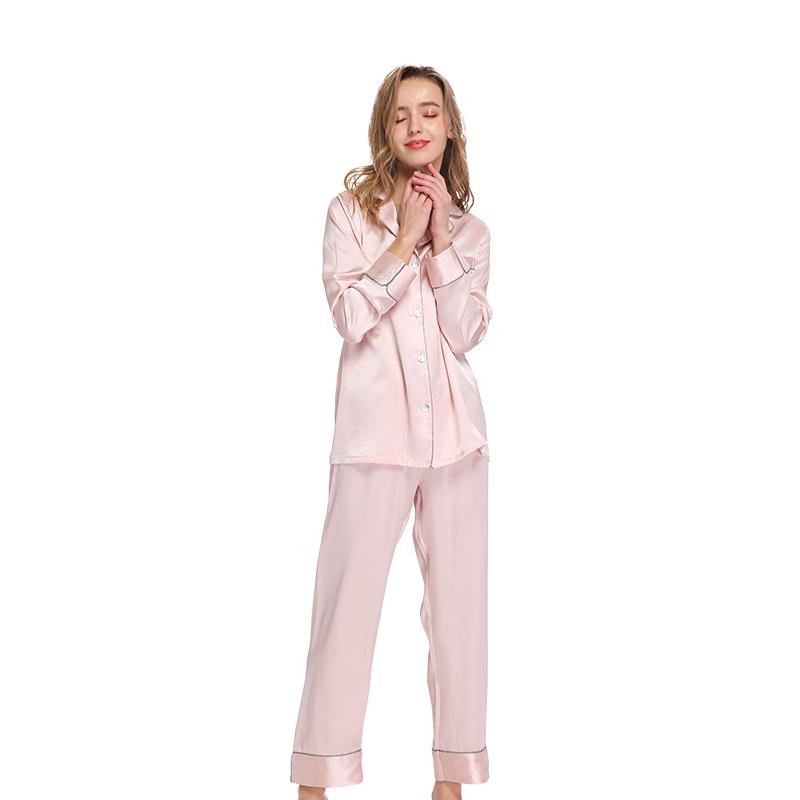 A-Y502-1 巴黎风尚桑蚕丝睡衣双人装