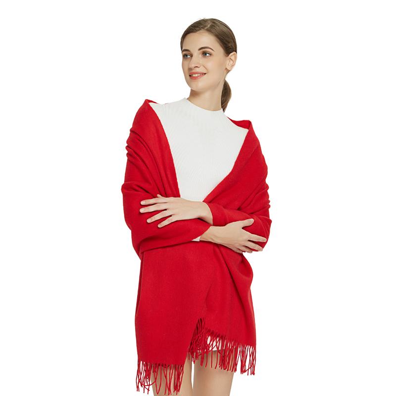 A-D3021 臻选素色羊毛大围巾