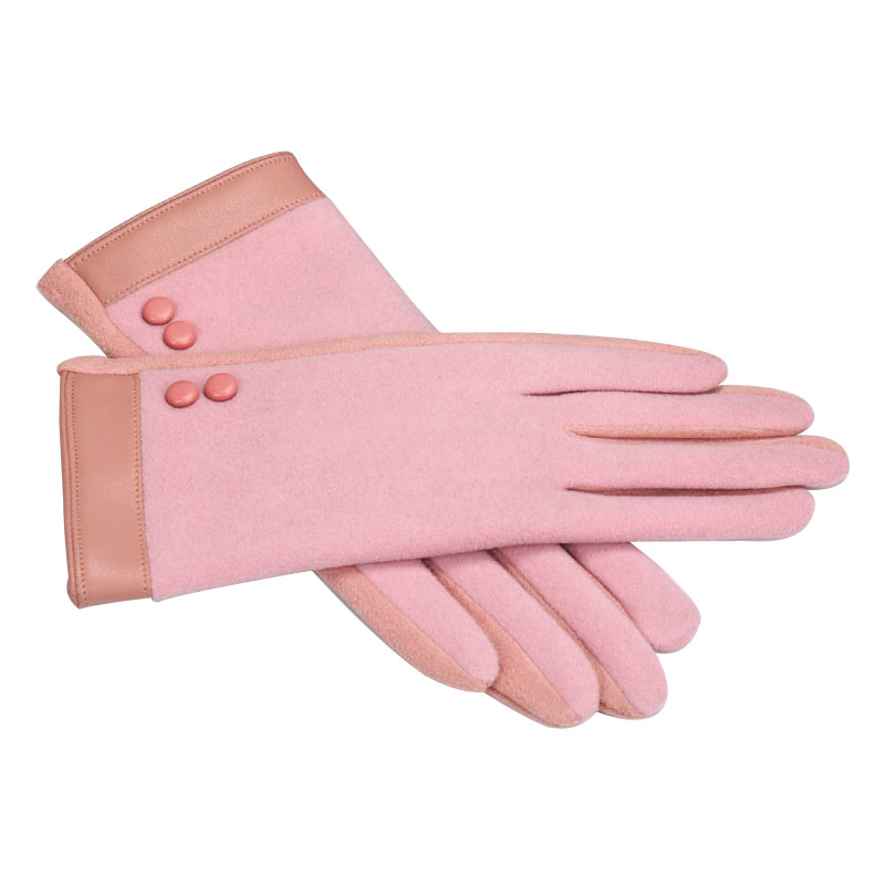 A-F722 臻品双拼麂皮绒手套